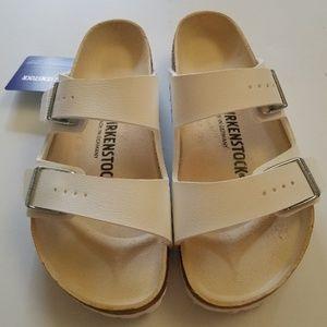 New Birkenstock Arizona White Leather Sandals 37